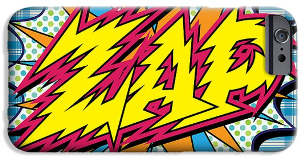 Warhol Art iPhone Cases - Zap iPhone Case by Gary Grayson