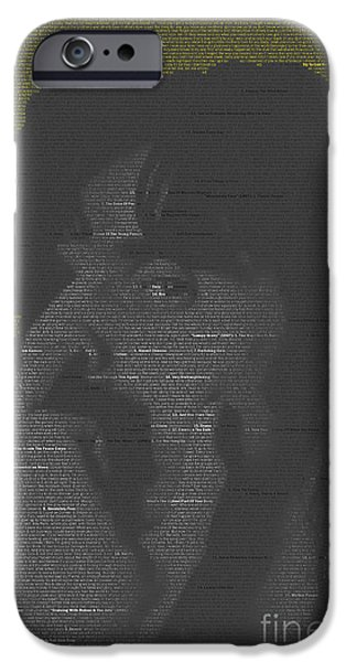 James Johnson iPhone Cases - Zappa mosaic iPhone Case by James Johnson