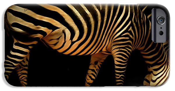 Donkey Digital Art iPhone Cases - Zebra 20150210brun iPhone Case by Wingsdomain Art and Photography