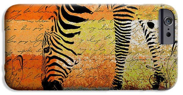 Zebra iPhone Cases - Zebra Art - rng02t01 iPhone Case by Variance Collections