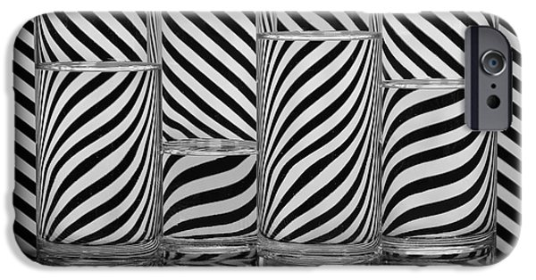Stripes iPhone Cases - Zebra Cocktails iPhone Case by Eleanor  Bortnick
