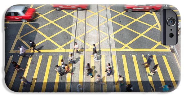Jordan iPhone Cases - Zebra crossing - Hong Kong iPhone Case by Matteo Colombo