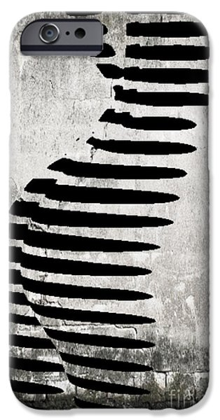 Michael Mixed Media iPhone Cases - Zebra Graffiti  iPhone Case by M and L Creations