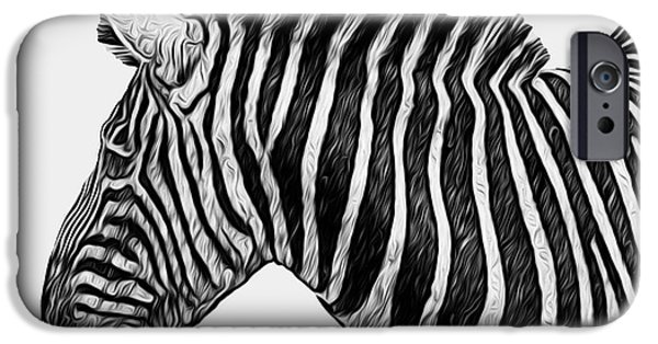 Harem iPhone Cases - Zebra - Happened At The Zoo iPhone Case by Jack Zulli