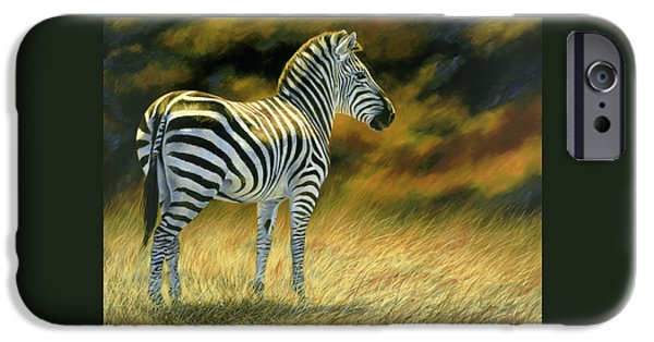 Zebra iPhone Cases - Zebra iPhone Case by Lucie Bilodeau