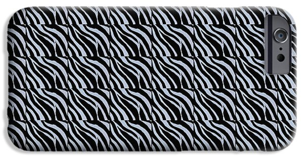 Animal Tapestries - Textiles iPhone Cases - Zebra Print Duvet iPhone Case by Barbara Griffin