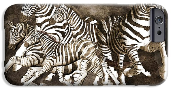 Cutler iPhone Cases - Zebras iPhone Case by Betsy A  Cutler