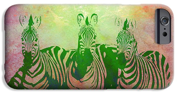 """digital Abstract"" iPhone Cases - Zebras iPhone Case by Gary Grayson"