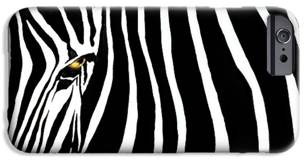 Selective Color iPhone Cases - Zebressence iPhone Case by Dan Holm