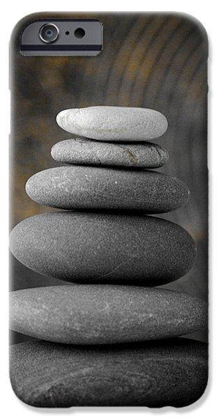 Balance iPhone Cases - Zen Balance iPhone Case by Riad Belhimer