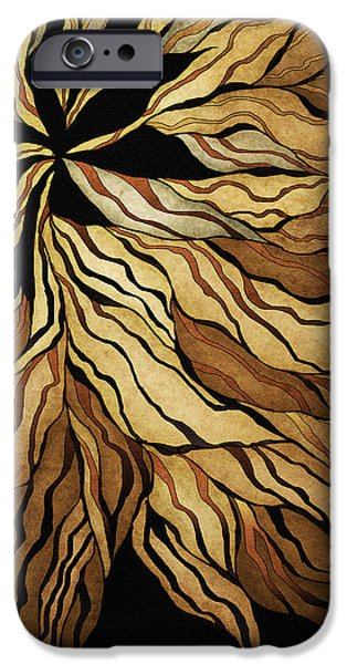 Bryant Drawings iPhone Cases - Zen Blossom iPhone Case by Brenda Bryant