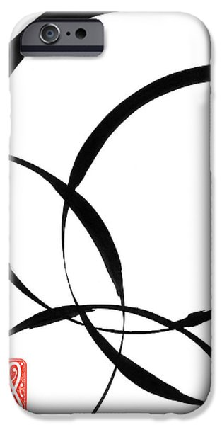 Indian Ink iPhone Cases - Zen Circles 2 iPhone Case by Hakon Soreide