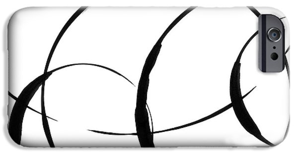 Indian Ink iPhone Cases - Zen Circles 3 iPhone Case by Hakon Soreide