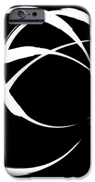 Negro Paintings iPhone Cases - Zen Circles 4 Inverted iPhone Case by Hakon Soreide