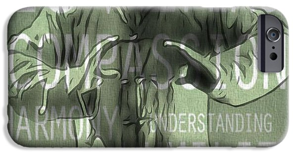 Buddhism Mixed Media iPhone Cases - Zen Compassion iPhone Case by Dan Sproul
