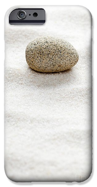 Line Sculptures iPhone Cases - Zen concept iPhone Case by Shawn Hempel