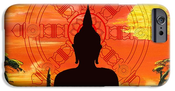 Buddhism iPhone Cases - Zen iPhone Case by Corporate Art Task Force