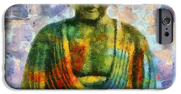 Buddhism Mixed Media iPhone Cases - Zen iPhone Case by Dan Sproul