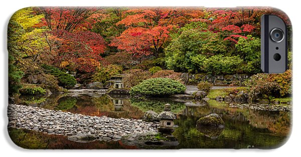 Fall Colors Photographs iPhone Cases - Zen Foliage Colors iPhone Case by Mike Reid