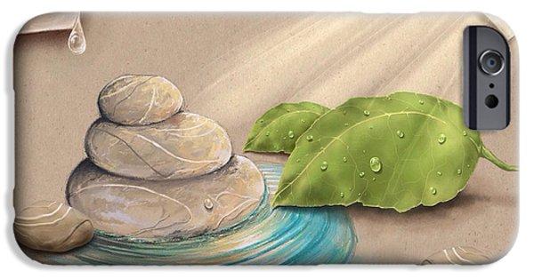 Garden iPhone Cases - Zen garden iPhone Case by Veronica Minozzi