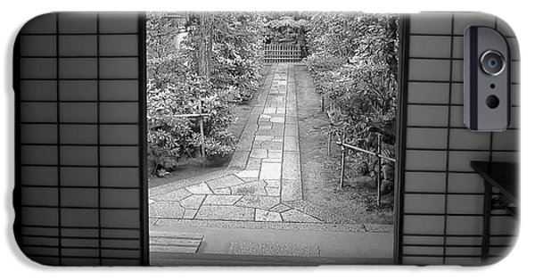 Bamboo Fence iPhone Cases - Zen Garden Walkway iPhone Case by Daniel Hagerman