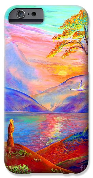 Swans... iPhone Cases - Zen iPhone Case by Jane Small