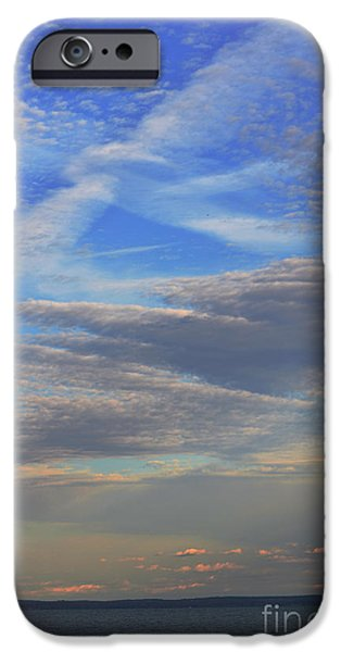 Seacapes iPhone Cases - Zen Skies Abstract iPhone Case by AdSpice Studios