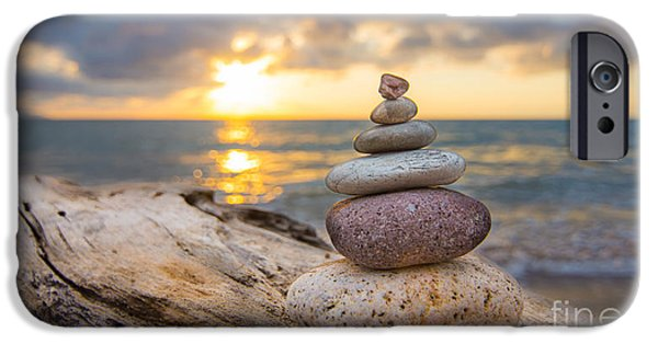Pile iPhone Cases - Zen Stones iPhone Case by Aged Pixel