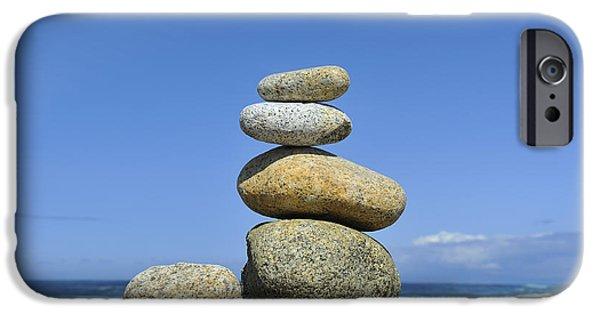 Interior Scene iPhone Cases - Zen Stones I iPhone Case by Marianne Campolongo