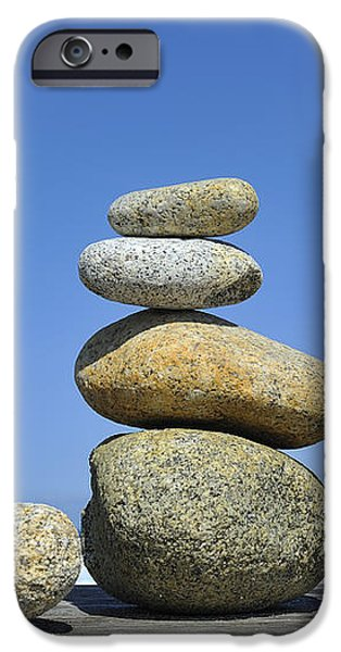 Zen Stones I iPhone Case by Marianne Campolongo