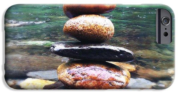 Buddhist iPhone Cases - Zen Stones II iPhone Case by Marco Oliveira