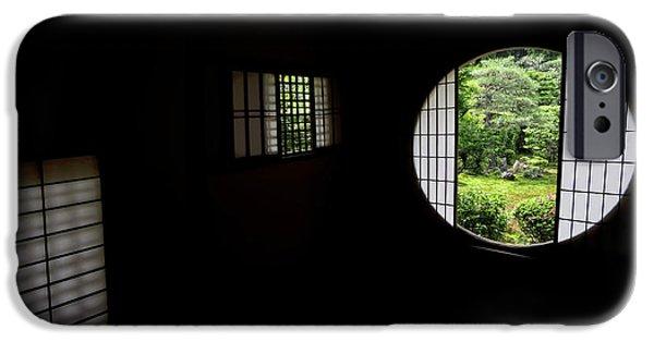 Japan House iPhone Cases - Zen Temple Tea House Interior - Kyoto Japan iPhone Case by Daniel Hagerman