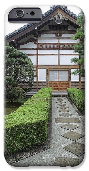 Bamboo House iPhone Cases - Zen Walkway - Kyoto Japan iPhone Case by Daniel Hagerman
