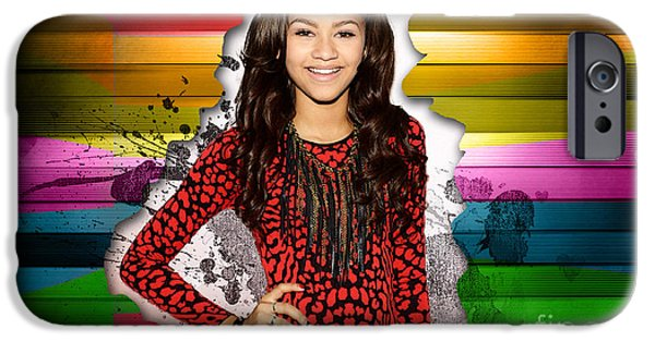 Dancing iPhone Cases - Zendaya iPhone Case by Marvin Blaine