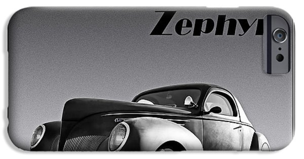 Lincoln Digital Art iPhone Cases - Zephyr iPhone Case by Douglas Pittman