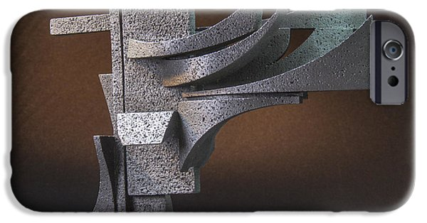 Stainless Steel Sculptures iPhone Cases - Zephyr iPhone Case by Richard Arfsten