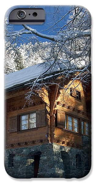 Zermatt Chalet iPhone Case by Brian Jannsen