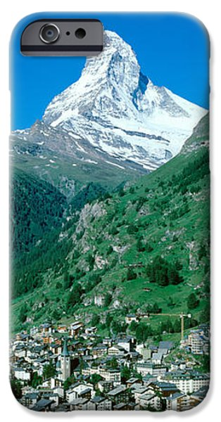 Switzerland iPhone Cases - Zermatt, Switzerland iPhone Case by Panoramic Images