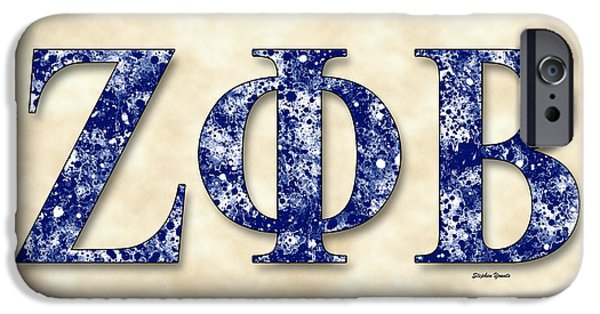 African-american Digital Art iPhone Cases - Zeta Phi Beta - Parchment iPhone Case by Stephen Younts