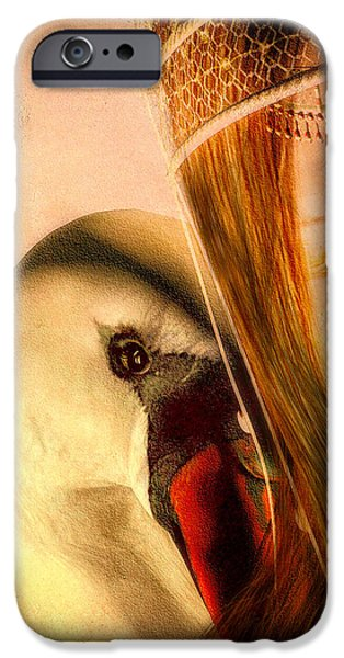 Zeus Digital Art iPhone Cases - Zeus and Leda iPhone Case by Bob Orsillo