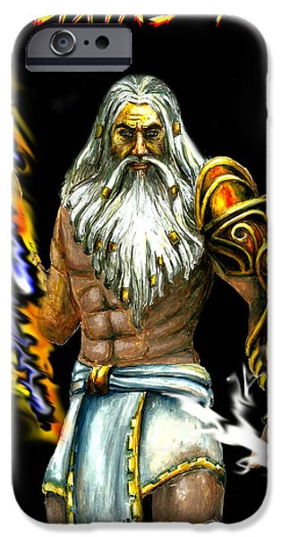 Zeus iPhone Cases - Zeus iPhone Case by Harsh Malik