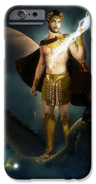 Zeus King of the Gods iPhone Case by Creative Sunny