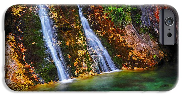 Zeus iPhone Cases - Zeus Waterfalls iPhone Case by George Marinakis