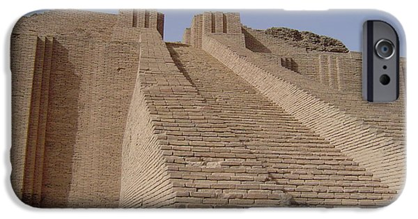 Baghdad iPhone Cases - Ziggurat of Ur iPhone Case by Stephen McLain