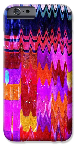 Shower Curtain iPhone Cases - Ziggy Quilt iPhone Case by Anne-Elizabeth Whiteway