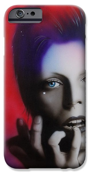 'Ziggy Stardust' iPhone Case by Christian Chapman