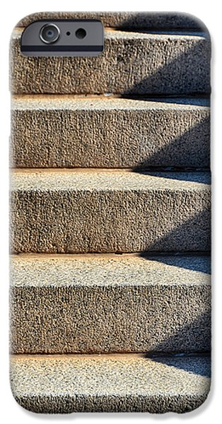 Downtown Stairs iPhone Cases - Zigzag iPhone Case by Angelina Vick