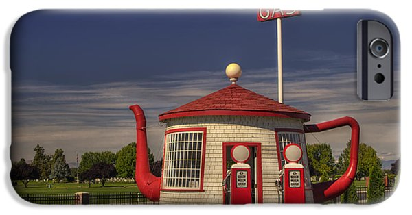 Yakima Valley iPhone Cases - Zillah Teapot Dome Service Station iPhone Case by Mark Kiver