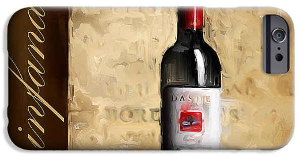 Vineyard Art iPhone Cases - Zinfandel III iPhone Case by Lourry Legarde