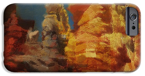 Zion Park iPhone Cases - Zion Canyon iPhone Case by Corporate Art Task Force